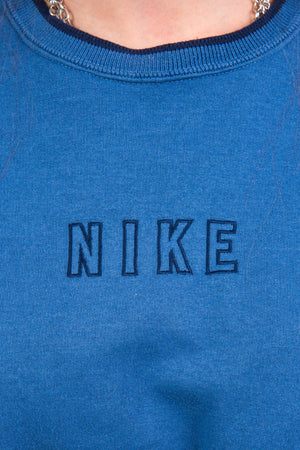 Vintage Nike Spell Out Cropped Sweatshirt