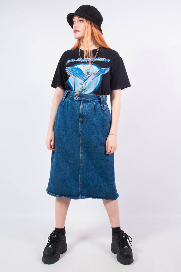 Vintage 90's Denim Midi Skirt