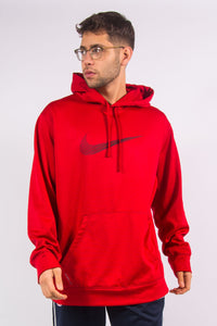 Nike Therma-Fit red sports hoodie