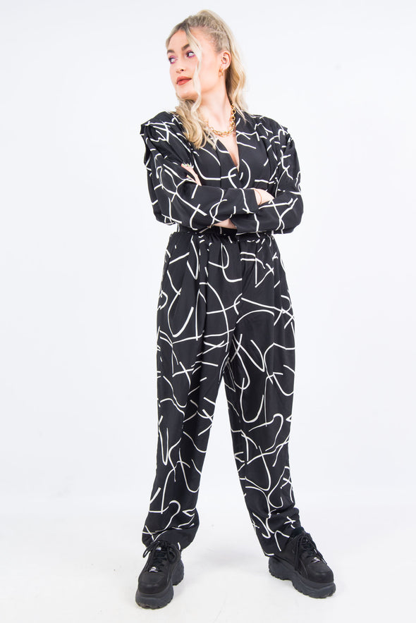 Vintage 90's Abstract Print Jumpsuit