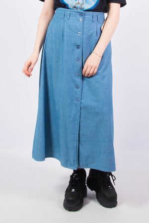 Vintage 90's Denim Maxi Skirt