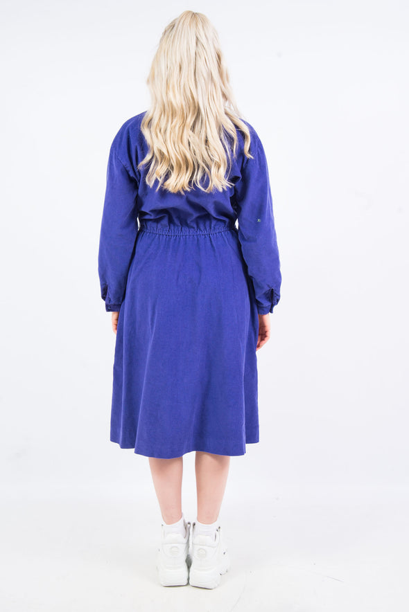 Vintage 90's Purple Cord Midi Dress