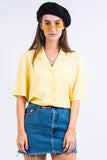 Vintage 90's Lemon Yellow Shirt