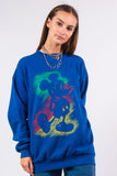 Vintage 90's Blue Disney Mickey Mouse Sweatshirt