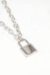 Silver Y2k Padlock Necklace