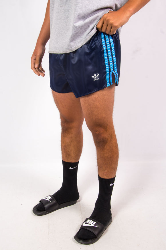 Vintage 80's Adidas made in West Germany dark blue sprinter style short shorts