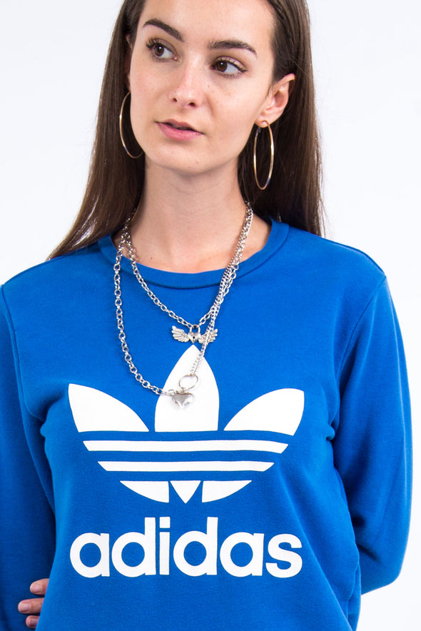 Adidas Blue Spell Out Sweatshirt