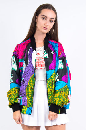 Vintage 90's Picasso Shell Bomber Jacket