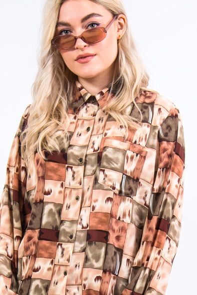 Vintage 90's Brown Patterned Shirt