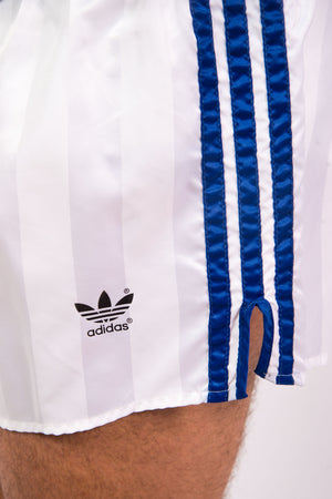 Vintage 80's Adidas White Striped Short Shorts