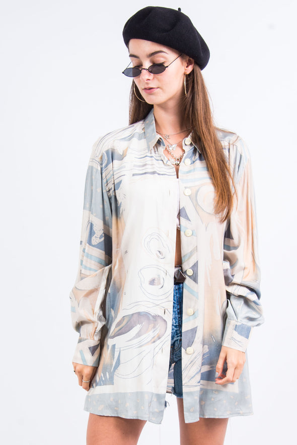 Vintage 90's Abstract Print Shirt