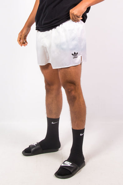 90's Adidas Shiny White Sports Shorts
