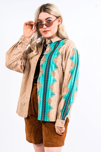 Vintage 90's Roper Aztec Patterned Shirt