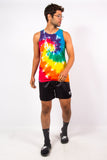 Vintage Multicoloured Tie Dye Vest