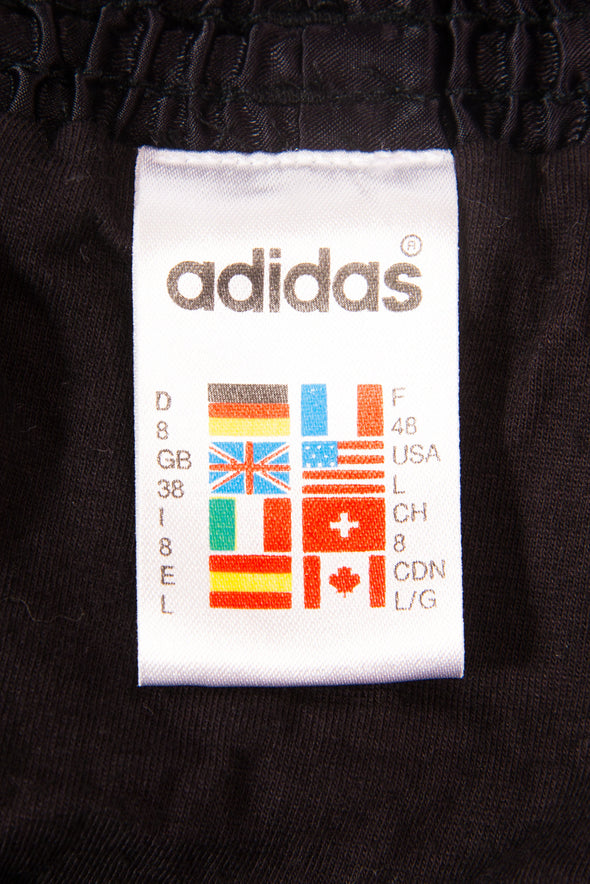 Vintage Adidas Shiny Black Shorts