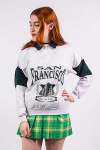 Vintage 90's 1/4 Zip San Francisco Sweatshirt