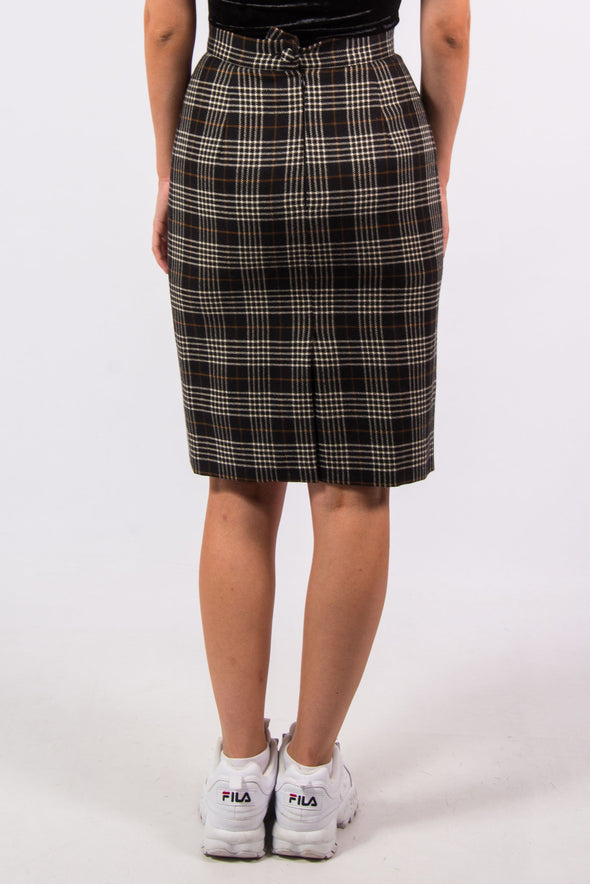 Vintage 90's Tartan Pencil Skirt