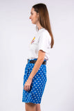 Vintage 90's Polka Dot Blue Mom Shorts