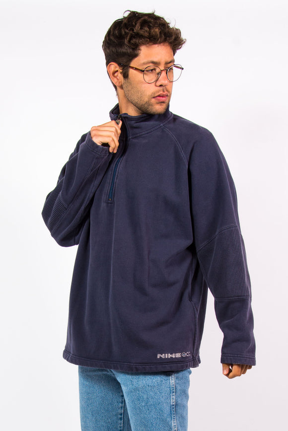 90's Nike 1/4 Zip Spell Out Sweatshirt