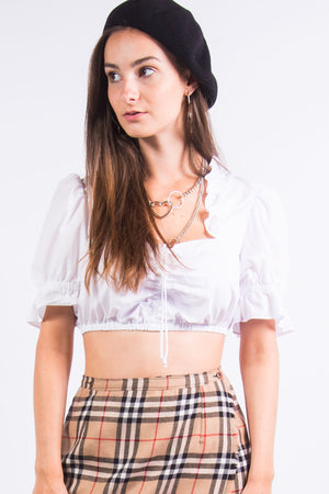 Vintage 90's Milk Maid Crop Top