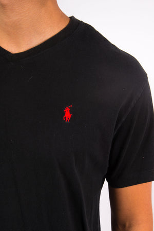 Black Ralph Lauren V-Neck T-Shirt