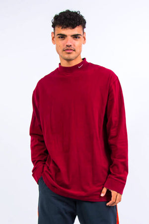 Nike Red High Neck Sweatshirt