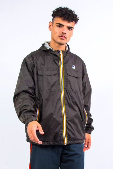 K-Way Waterproof Hooded Rain Jacket