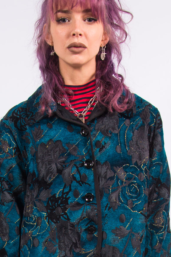 Vintage 90's Floral Button Jacket
