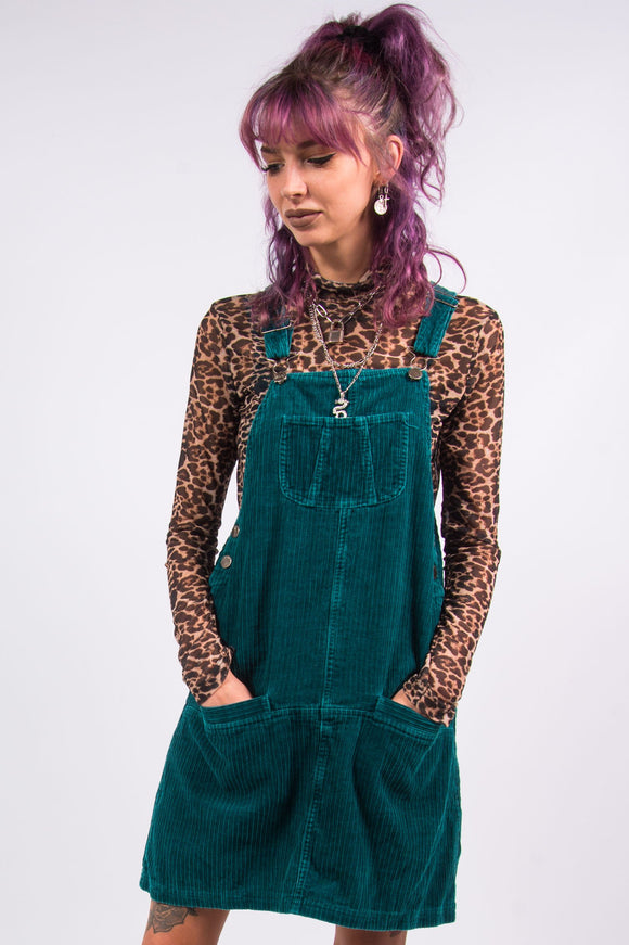 Vintage 90's Cord Dungaree Dress