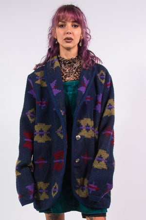 Vintage 90's Woolrich Patterned Coat Jacket