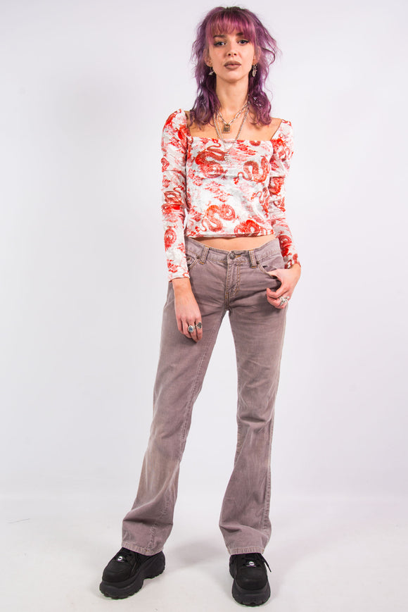 Vintage 90's Dusky Pink Cord Trousers