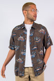 Vintage Brown Hawaiian Festival Shirt