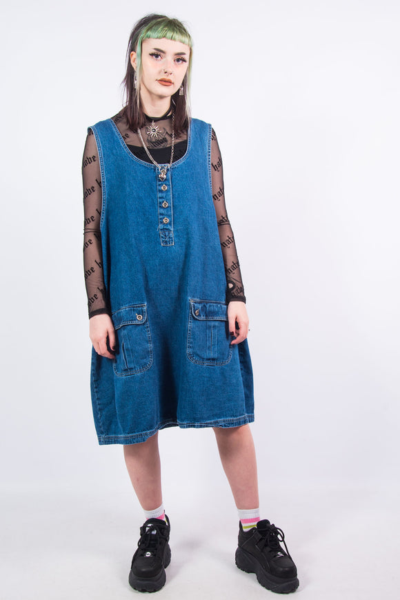 90's Vintage Denim Dress