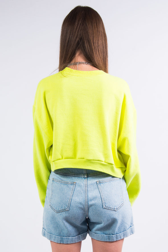 Vintage New York Neon Cropped Sweatshirt
