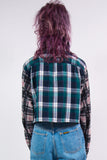 Vintage 90's Check Contrast Sleeve Flannel Shirt