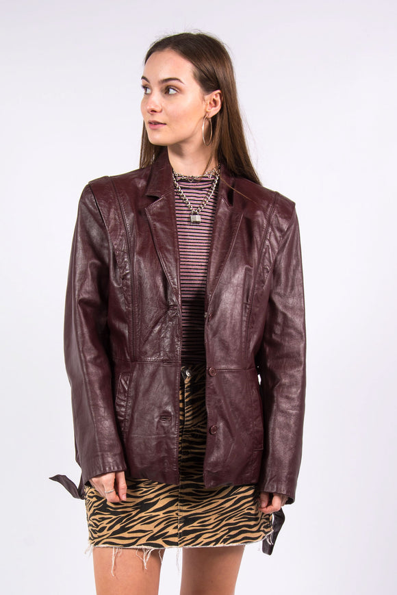 Vintage 70's Maroon Leather Jacket