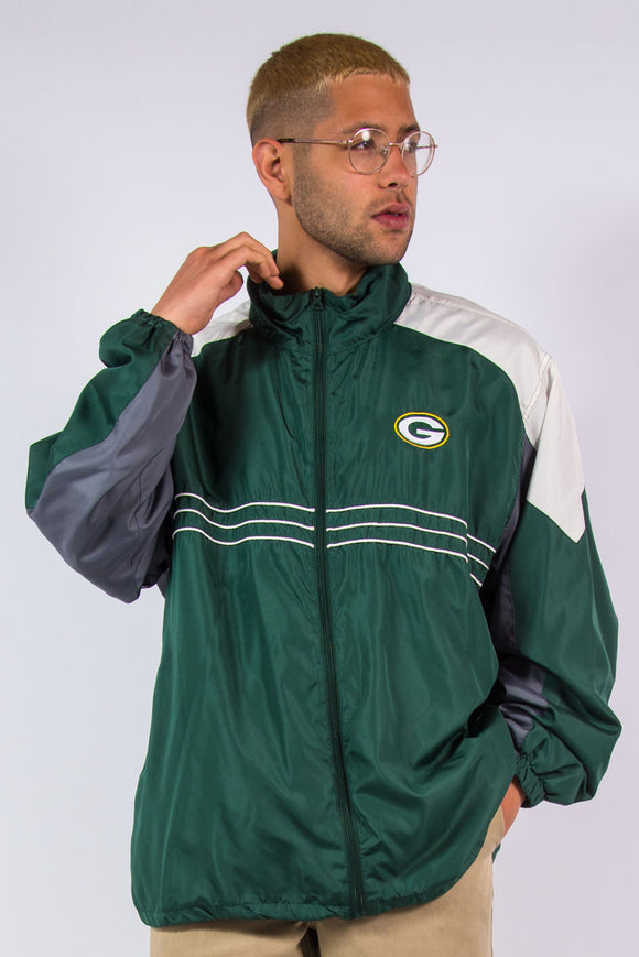 Reebok Green Bay Packers NFL Windbreaker Jacket