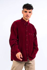 90's Vintage Red Cord Shirt