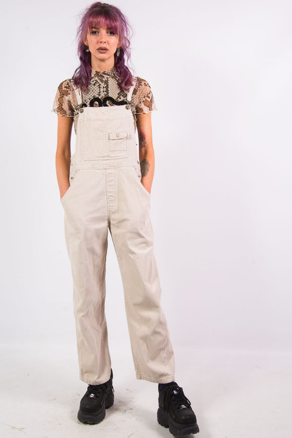 Vintage 90's Beige Cord Dungarees