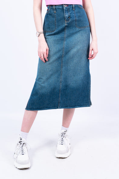 Y2K Tommy Hilfiger Denim Midi Skirt