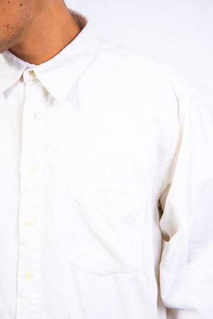 90's Vintage White Cord Shirt