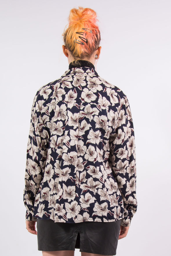 Vintage 90's Floral Print Button Down Shirt
