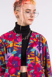 Vintage 90's Abstract Floral Pattern Shirt
