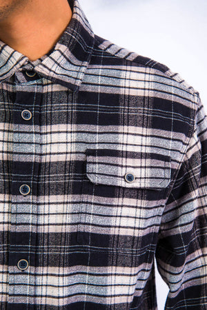 Check Pattern Thick Flannel Shirt