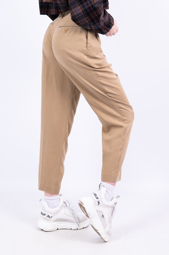 Vintage 90's Beige High Waist Trousers