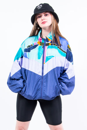 Vintage 90's Abstract Shell Bomber Jacket