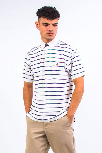 Vintage Tommy Hilfiger Striped Polo T-Shirt