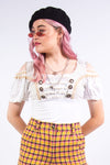 Vintage 90's Milk Maid Drindl Crop Top