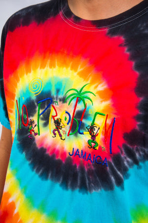 90's Classic Tie Dye Jamaica Embroidered T-Shirt