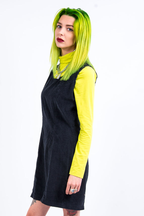 Vintage 90's Cord Pinafore Dress
